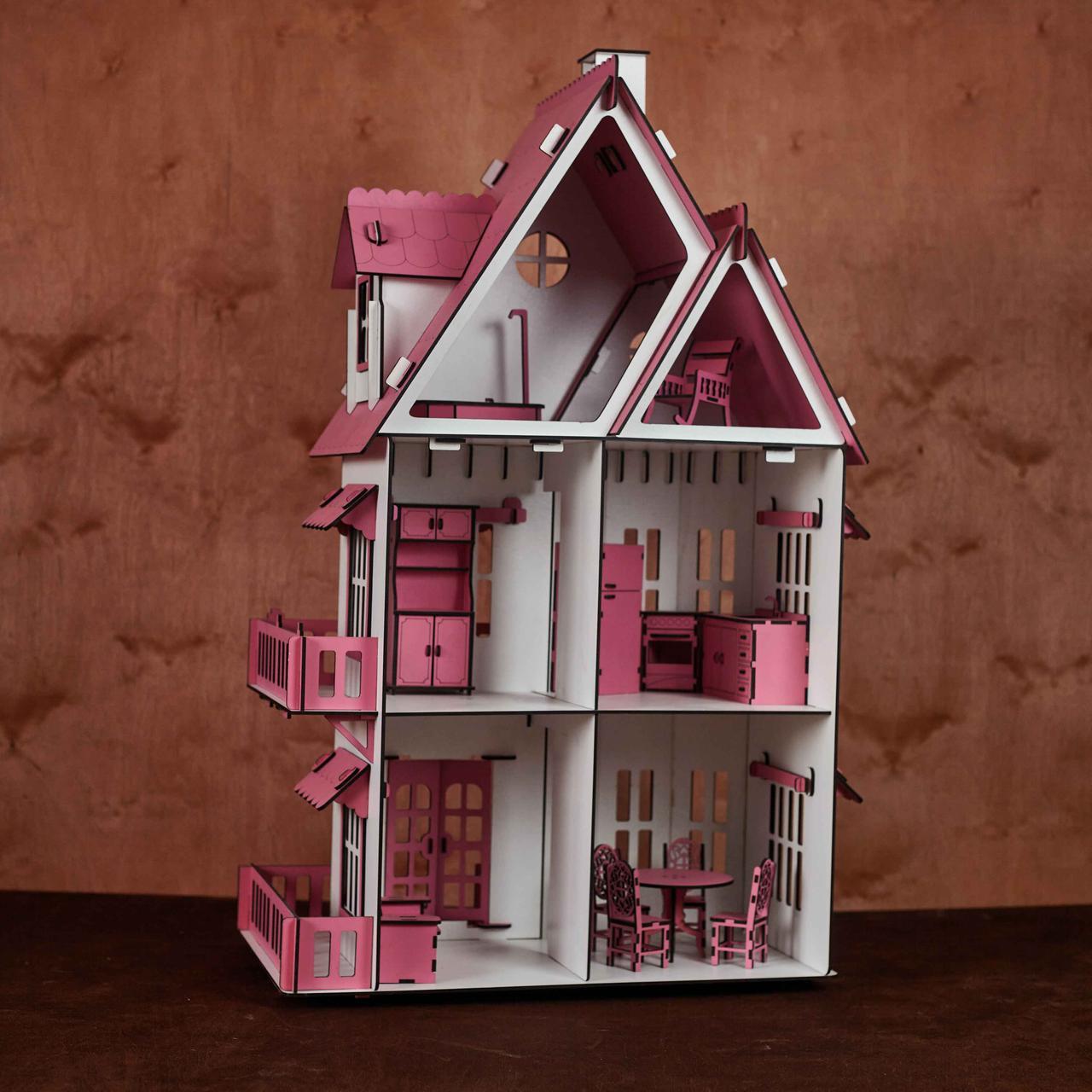 Кукольный домик с мебелью - фото 3