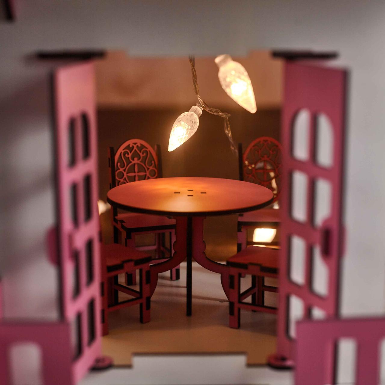 Кукольный домик с мебелью - фото 4
