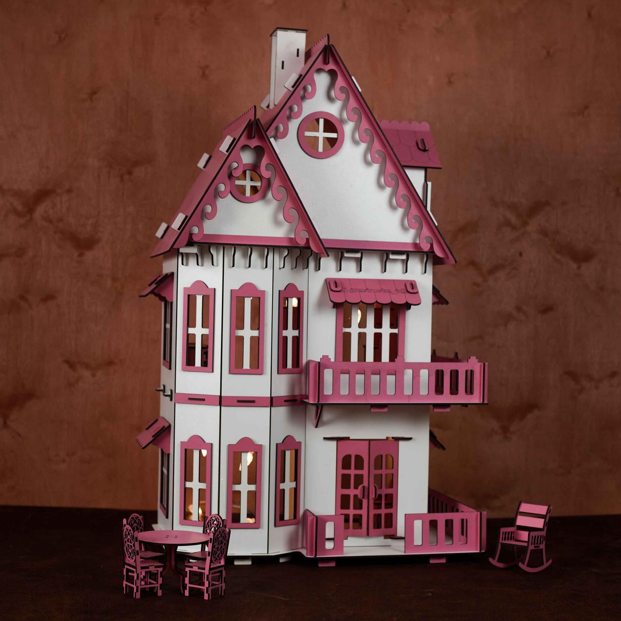 Кукольный домик с мебелью - фото 8