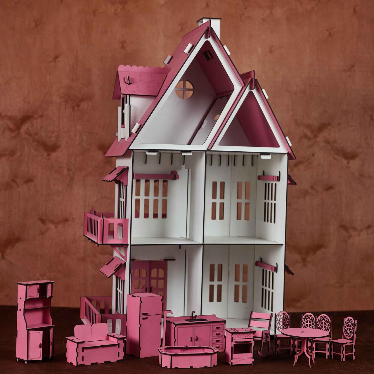 Кукольный домик с мебелью - фото 9