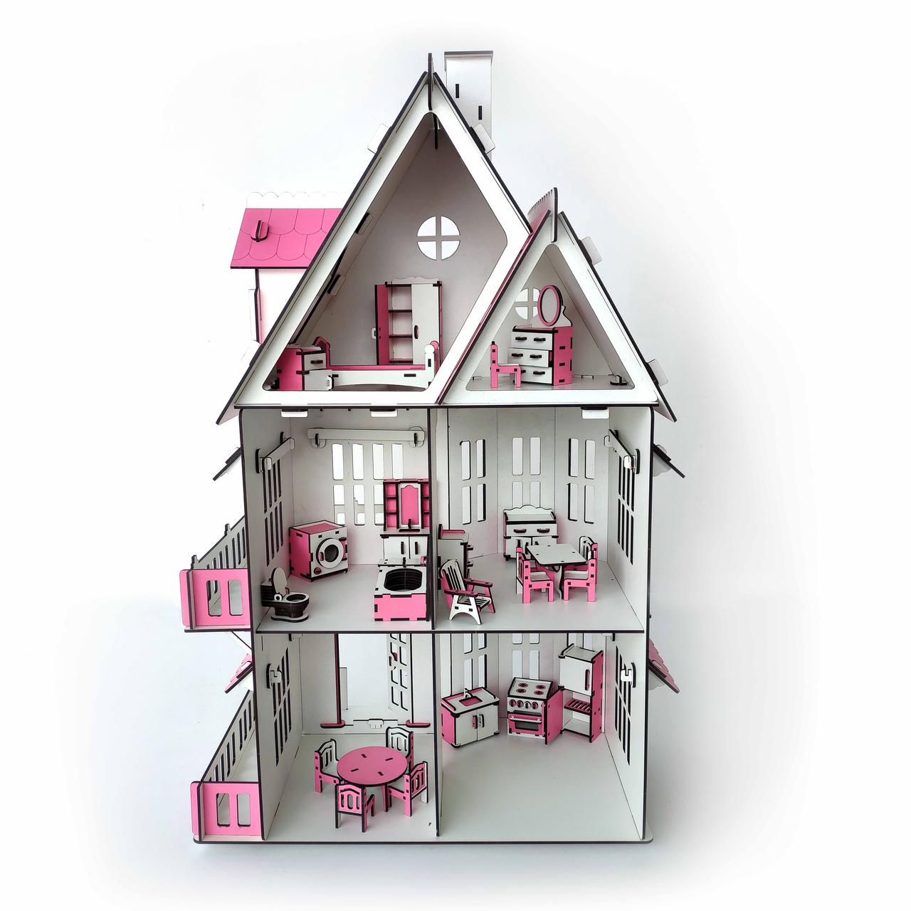 Кукольный домик с мебелью - фото 2