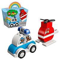 Конструктор LEGO DUPLO My First Пожарный вертолет и полицейский автомобиль 10957