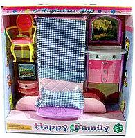 Игровой набор кукольной мебели Happy Family (спальня)