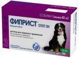 Фиприст Спот-он Капли от блох, вшей, клещей, власоедов для собак 40-60 кг (3 пипетки)