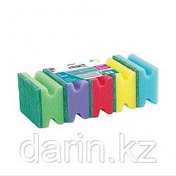 Губки для посуды профильные Comfort, 87 x 65 x 40 мм, 5 шт., Home Palisad