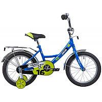 """Велосипед NOVATRACK 16"""", EXTREME, синий, полная защита цепи,  тормоз нож, короткие крылья, нет багаж"""