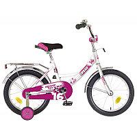 """Велосипед NOVATRACK 16"""", URBAN, белый, полная защита цепи, тормоз нож., крылья и багажник хром.,"""