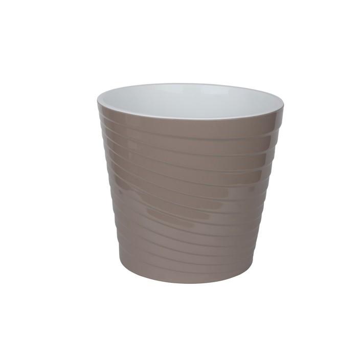 Пластиковый горшок с вкладкой «Эйс», 2,7 л, d=17 см, цвет фраппе