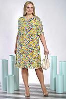 Женское летнее шифоновое большого размера платье Alani Collection 1397 56р.