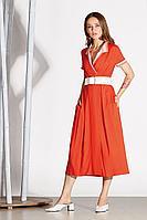 Женское летнее из вискозы красное платье Noche mio 1.092 42р.