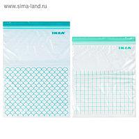 Набор пакетов пластиковых ИСТАД, 30 шт, бирюзовый
