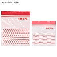 Набор пакетов пластиковых ИСТАД, 60 шт, красный