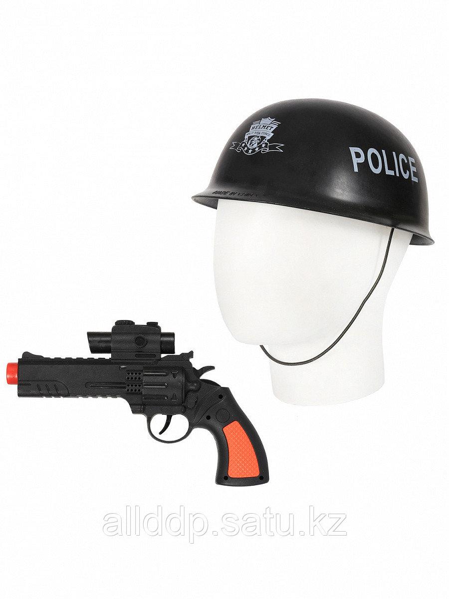 Набор полицейского 2213 (револьвер-трещетка+каска)