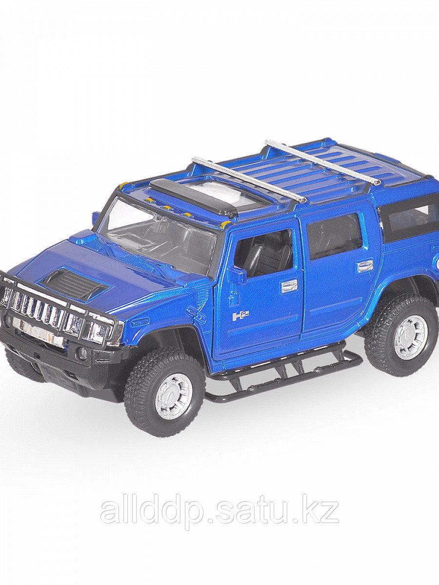 Модель машины Hummer H2 1:32 свет,звук, инерция 25056С
