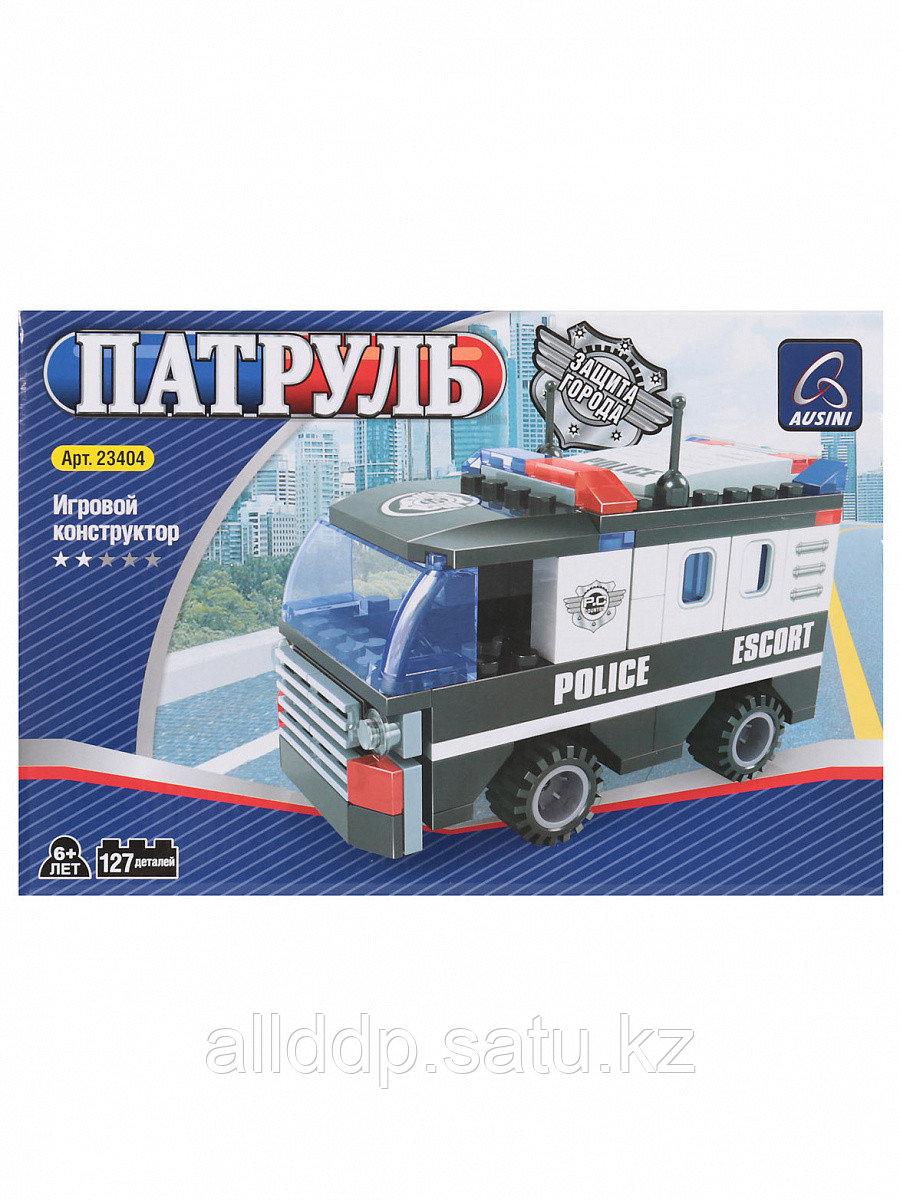 Конструктор блочный Полицейская машина 127 дет. 23404 Ausini