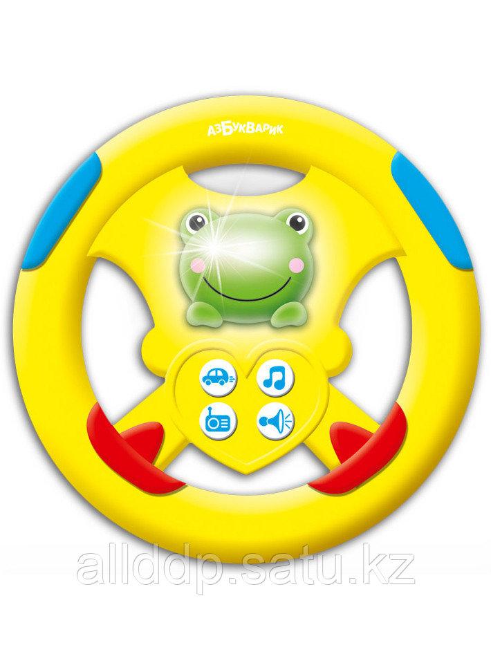 Игрушка музыкальная Руль Бип-бип желтый Лягушонок 4680019283203