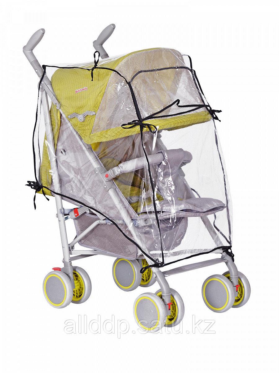 Дождевик для прогулочной коляски, из пленки ПВХ