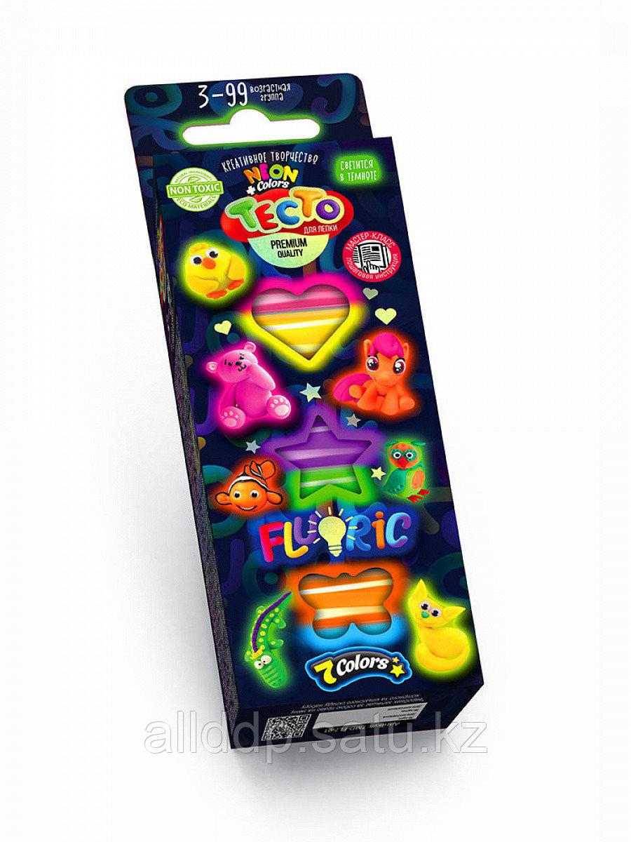 Набор креативного творчества TMD-FL-7-01 Неоновое тесто для лепки Fluoric 7 цветов