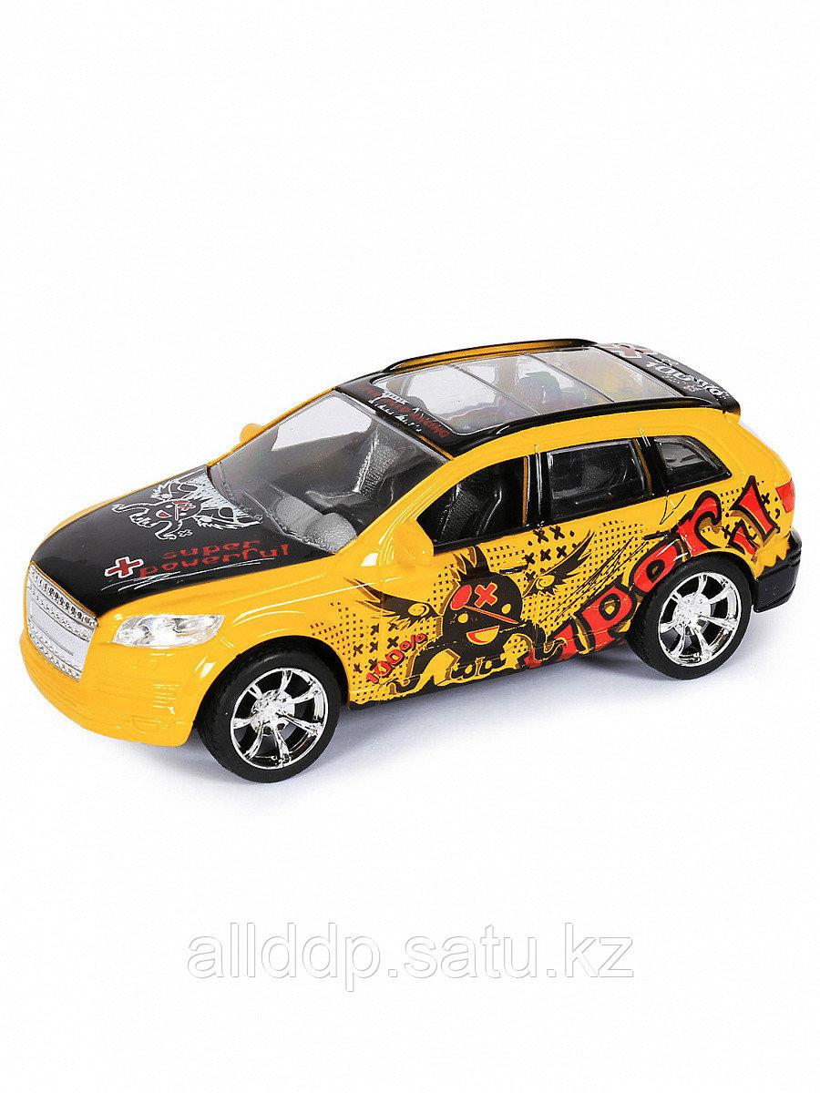 Машина инерционная H555-17 желтый с черным