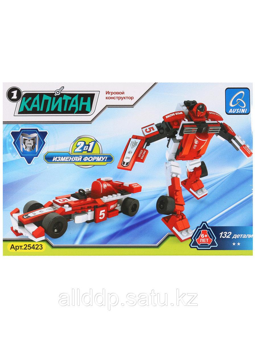 Конструктор блочный Робот+машина 132 дет. 25423 Ausini