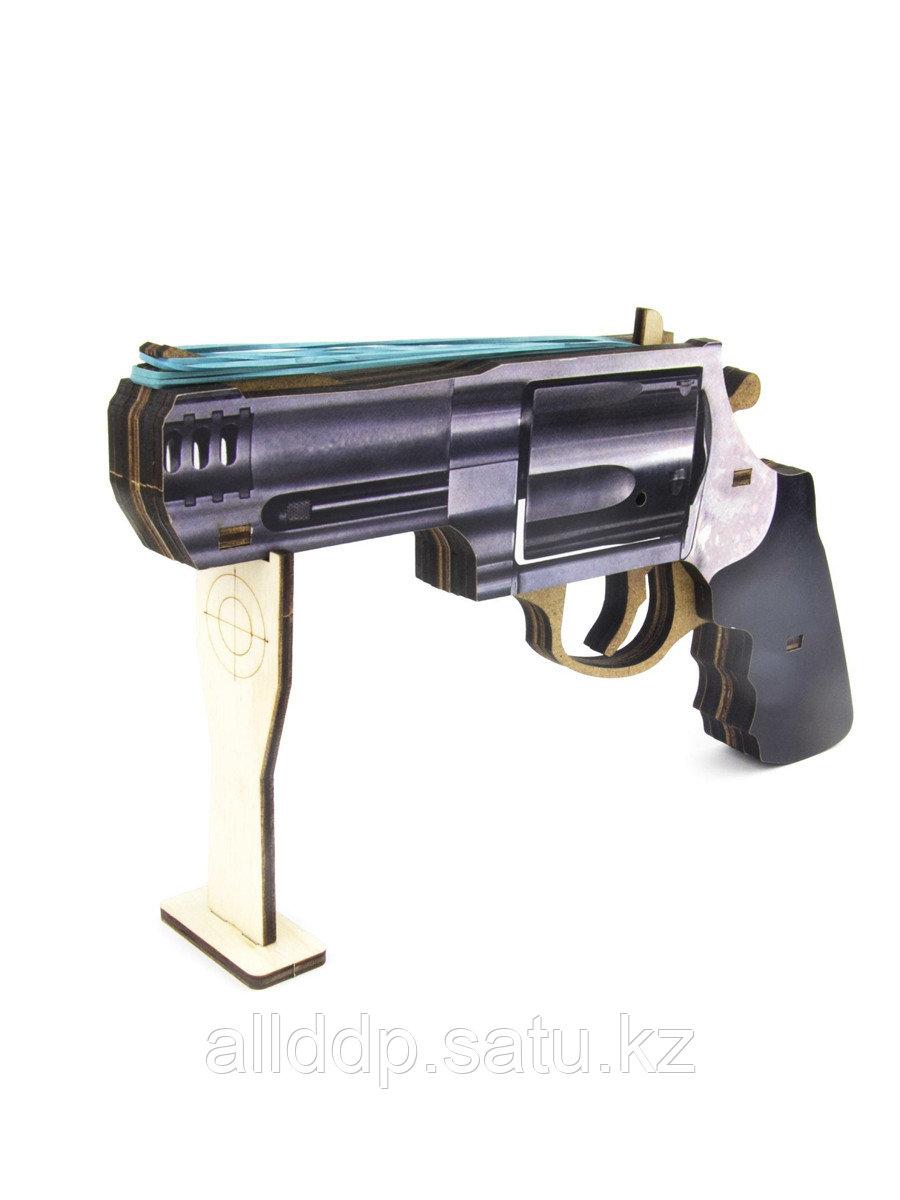Резинкострел Револьвер деревянный 125109 Woodlandtoys