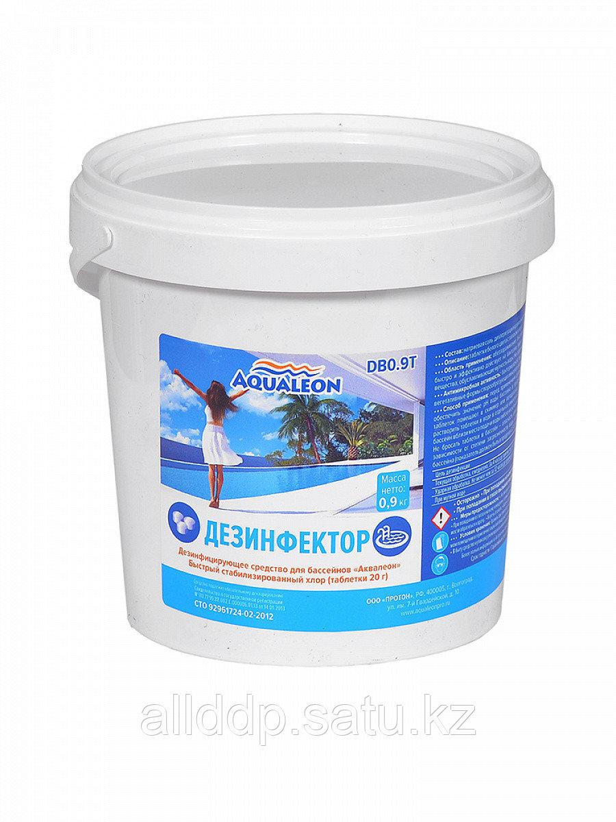 Дезинфицирующее средство быстрый хлор Aqualeon в таб. 20 г 0,9 кг