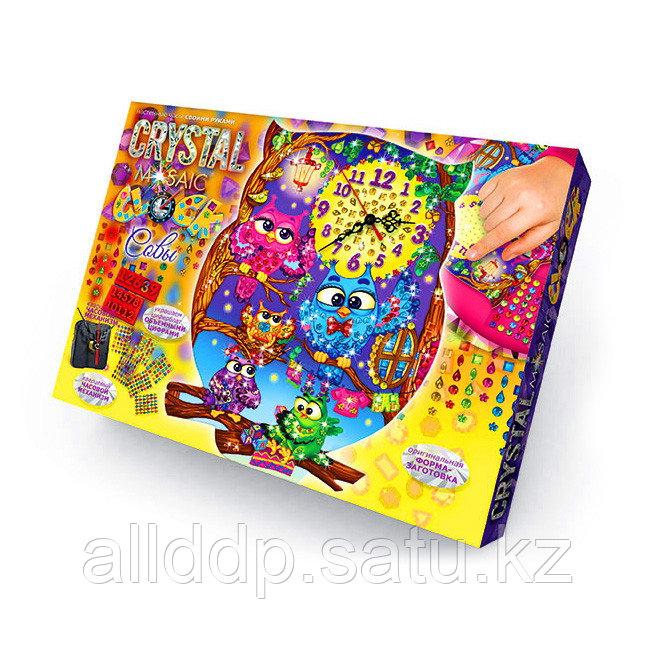 Набор для творчества Настольные часы своими руками CMC-01-02 Crystal Mosaic Clock Сова