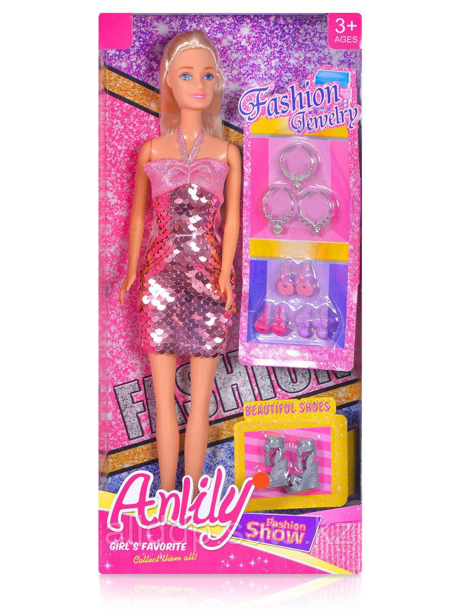 Кукла в блестящем платье 99247 с аксессуарами в/к