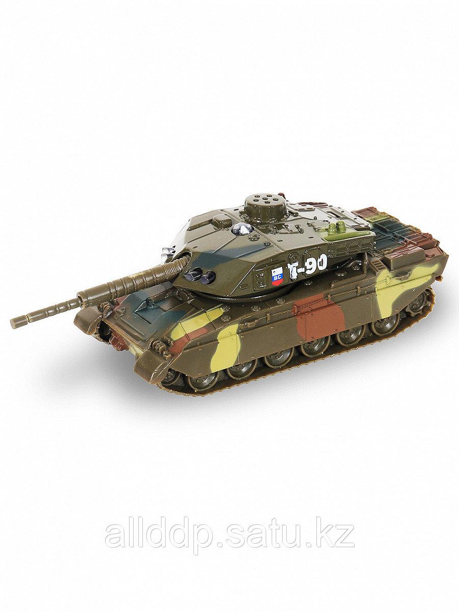 """Мод. маш. 1:43 ТЕХНОПАРК """"Танк Т-90"""" 13см, CT10-029-1"""