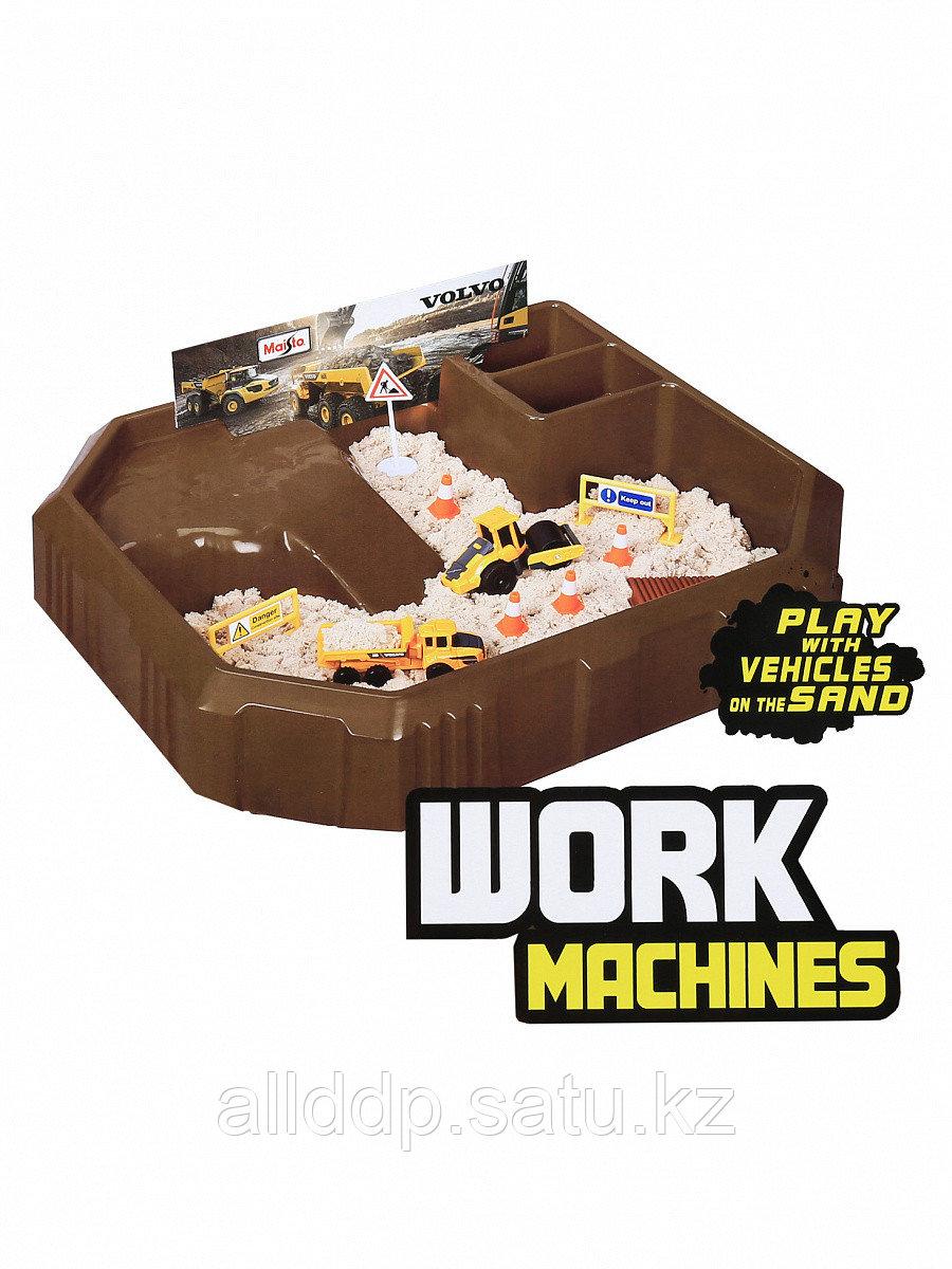 """Игровой набор """"Песчаный карьер"""" с 2-мя моделями строительной техники Volvo + песок+аксессуары 11519 MAISTO"""