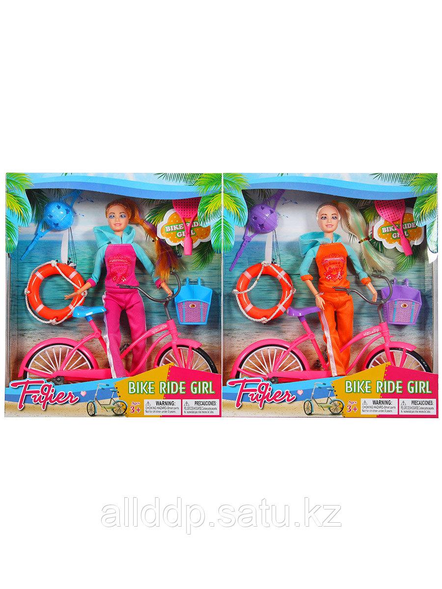 Кукла 29 см JX100-67B на велосипеде