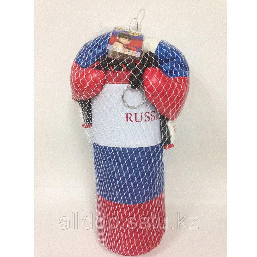 Набор для бокса RUS03 Груша+перчатки D24см H60см