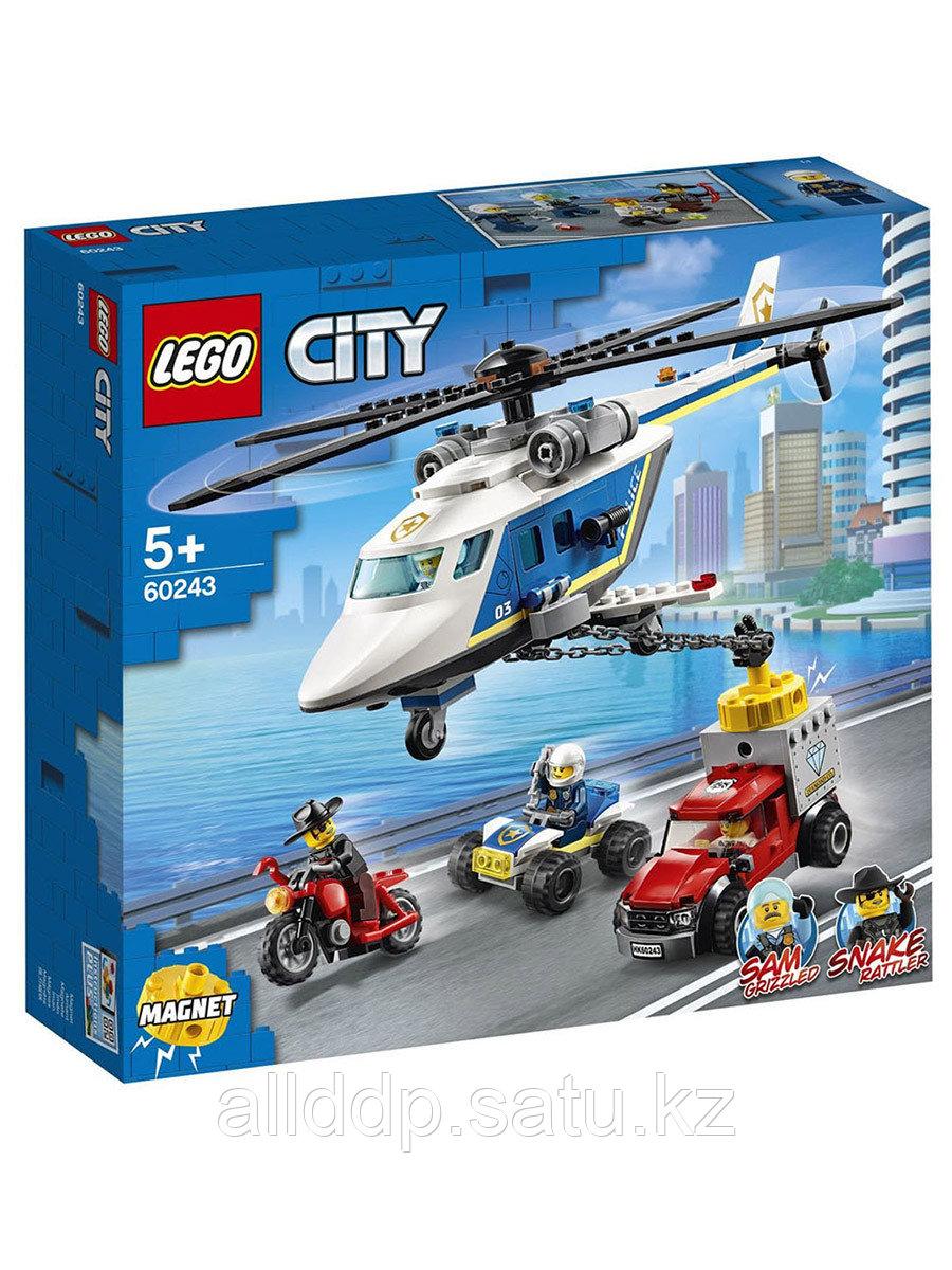 Конструктор Погоня на полицейском вертолёте 212 дет. 60243 LEGO Сity Police