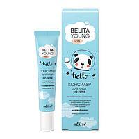 Консилер для лица Belita Young Skin No Filter, «Матовый эффект», тон универсальный, 20 мл