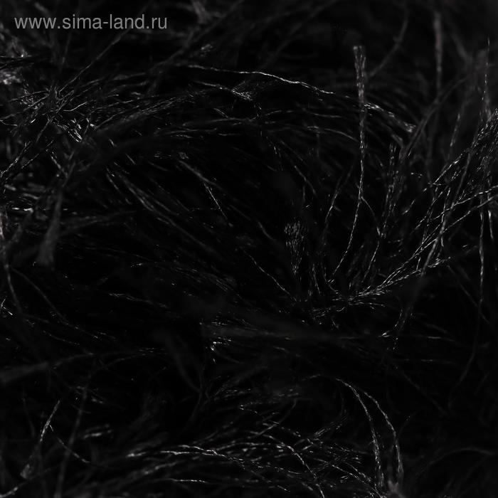 "Пряжа ""Decofur"" 100% полиэстер 110м/100гр (60 чёрный) - фото 3"