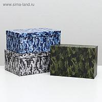 """Набор коробок 3 в 1 """"Камуфляж 2"""", 30,5 х 20 х 13 - 26 х 17,5 х 11 см"""