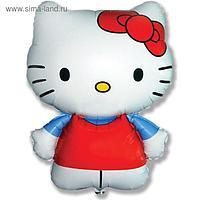 """Шар фольгированный 26"""" Hello Kitty """"Котёнок с бантиком"""", фигура, 1 шт. в упаковке"""