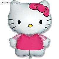 """Шар фольгированный 26"""" фигура """"Hello Kitty. Котенок с бантиком"""" розовый, 1шт. в упак."""