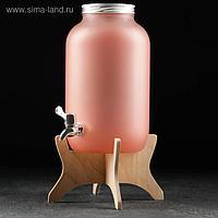 Диспенсер «Розовый», 4,25 л, с краником и подставкой
