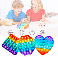 Сенсорная игрушка антистресс с пузырьками разноцветные Пупырка POP IT в ассортименте