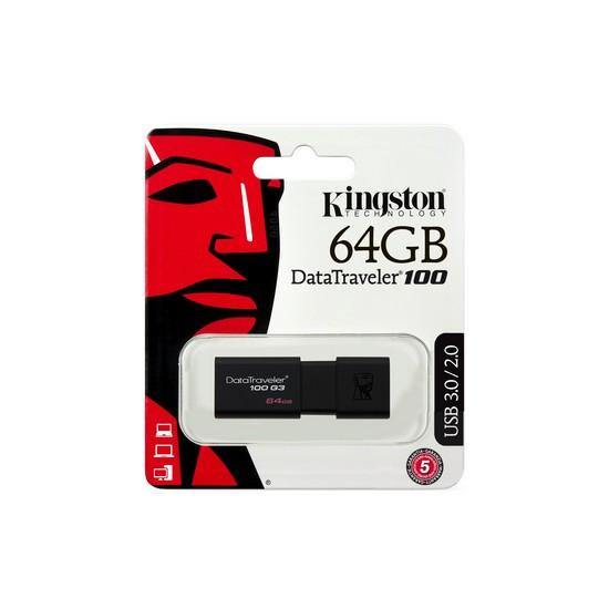 USB-накопитель Kingston DataTraveler® 100 G3 (DT100G3) 64GB