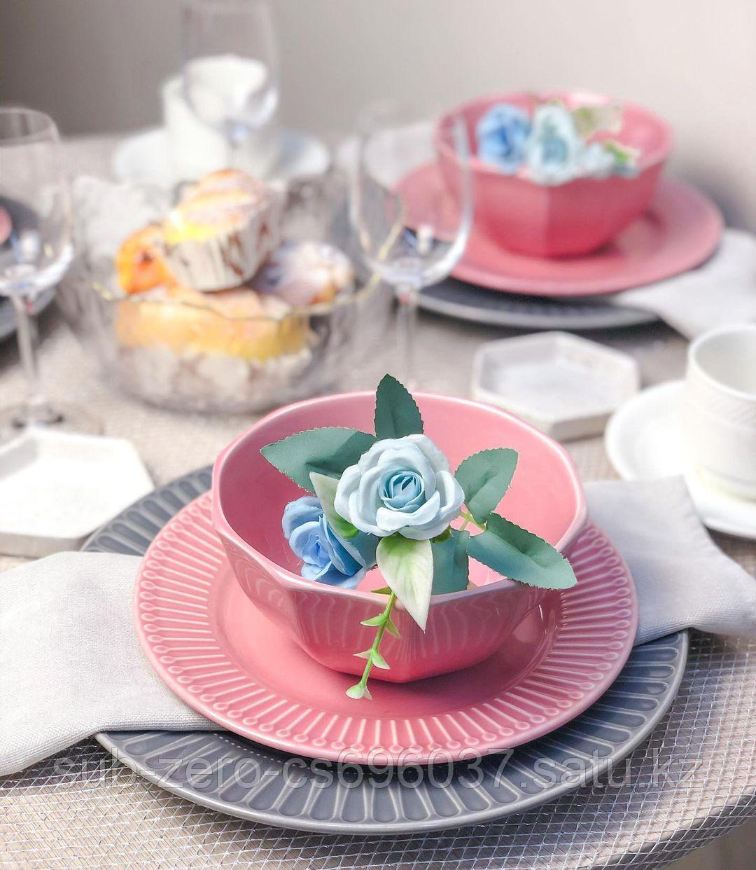 Тарелка «Royal розовый» 20см