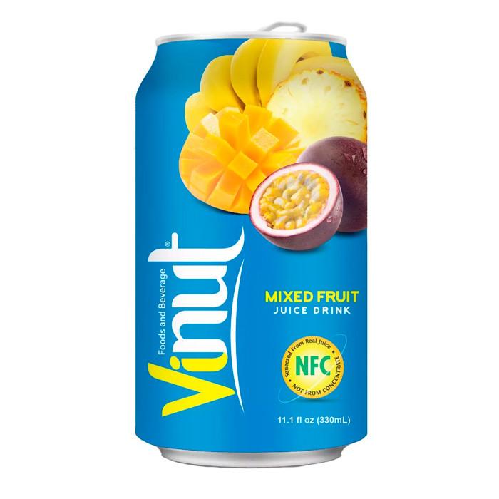 Напиток Vinut Mixed fruit Juice Мультифрукт 330ml (24шт-упак)