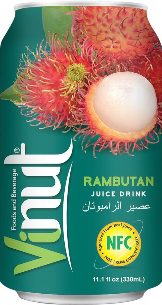 Напиток Vinut Rambutan Juice Рамбутан  330ml (24шт-упак)