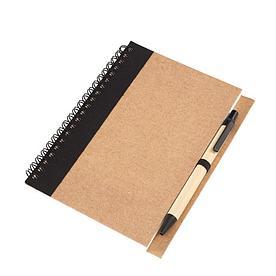 Блокнот RECYCLE из картона с ручкой