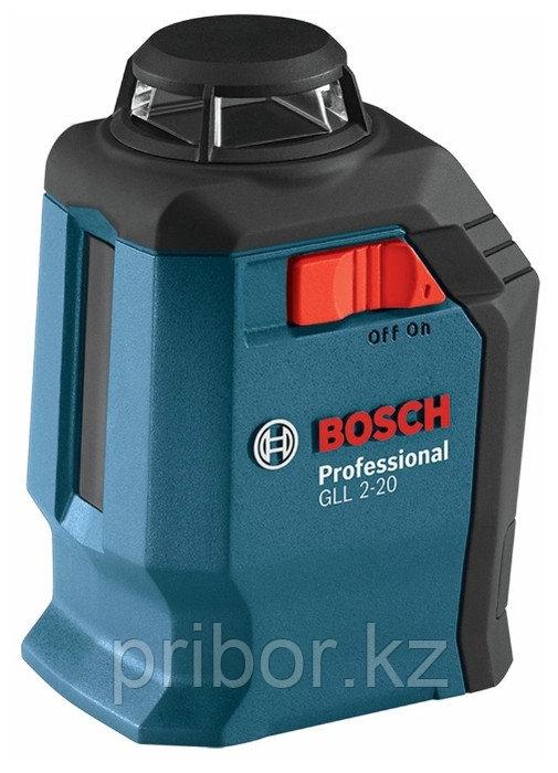 Лазерный профессиональный нивелир Bosch GLL 2-20 (360°)+BM3. Внесен в реестр СИ РК