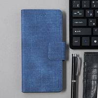 Чехол-книжка для телефона Maverick Slimcase, универсальный, 6-6.5', джинсовый, синий