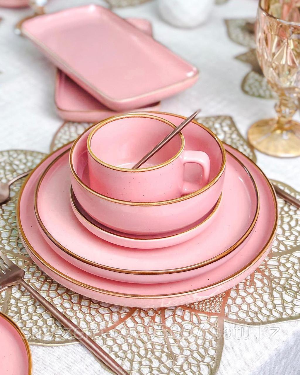 Чайная пара «Крафт розовый»