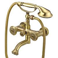 Смеситель для ванной и душа LEMARK JASMINE, бронза (LM6614B)