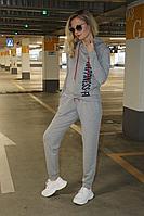 Женский летний трикотажный серый спортивный спортивный костюм Azzara 662 44р.